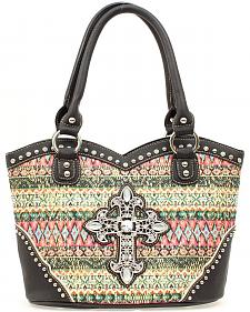Blazin Roxx Boot Top Southwest Cross Tote Bag