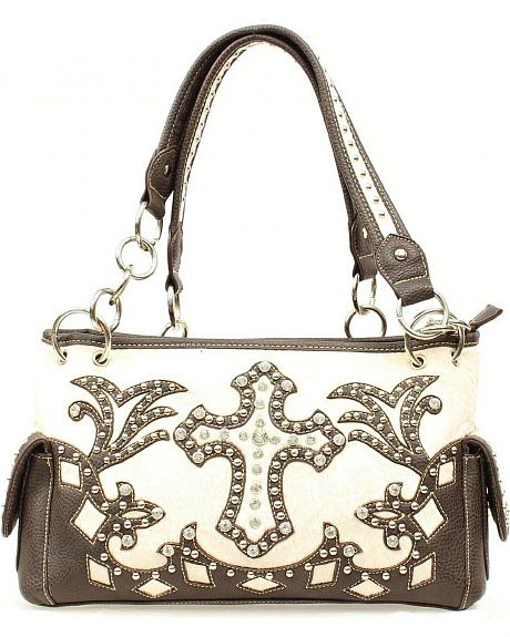 Blazin Roxx Bedecked Fancy Cross Satchel Bag