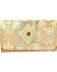 Blazin Roxx Hippie Print Wallet