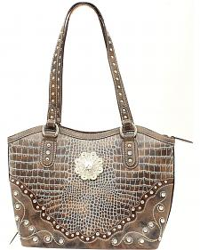 Blazin Roxx Croc Print Conceal & Carry Bucket Bag