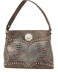 Blazin Roxx Croc Print Concho Concealed Carry Shoulder Bag