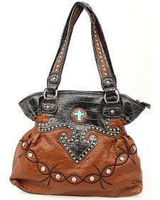Blazin Roxx Barbed Wire Embroidered Bucket Bag