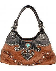 Blazin Roxx Barbed Wire Embroidered Shoulder Bag
