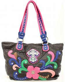Blazin Roxx Cross Flower Tote Bag