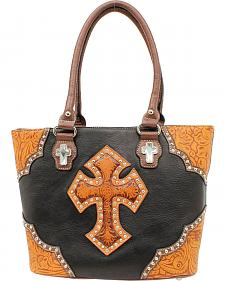 Blazin Roxx Tooled Cross Tote Bag
