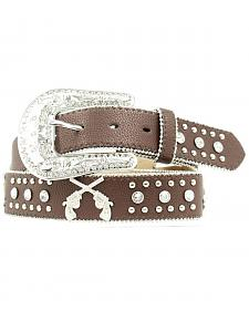 Blazin Roxx Cross Pistols Concho Studded Belt