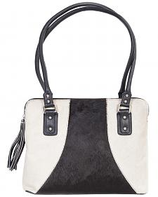 Scully Black & White Hair-on-Hide Shoulder Bag