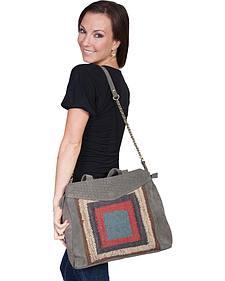 Scully Suede Tapestry Shoulder Bag