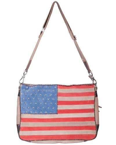 Scully Studded Patriotic Crossbody Bag Western & Country B124-HB-ONE