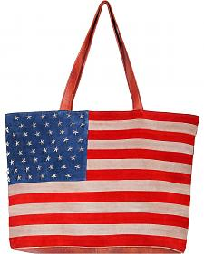 Scully Patriotic Suede Shoulder Bag