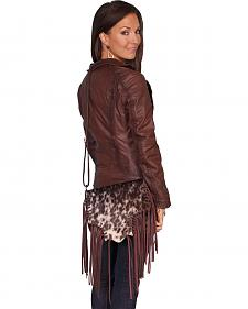 Scully Hair-on-Hide Calf Fringe Shoulder Bag