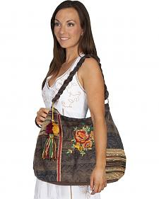 Scully Floral Woven Shoulder Bag