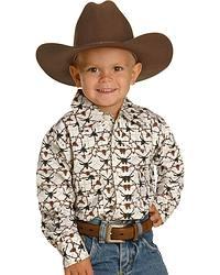 Cowboy Hardware Skull Print Western Shirt - 4-16 at Sheplers