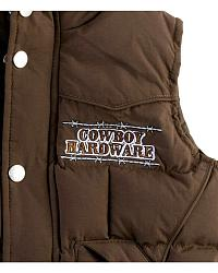 Cowboy Hardware Brown Nylon Too Tough Vest - 2T-4T at Sheplers