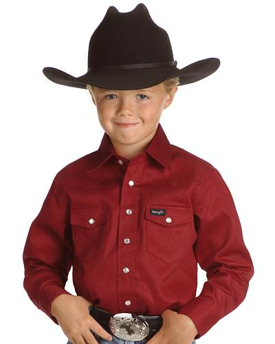 Wrangler Boys Red Western Shirt 2-20 Western & Country BW1321R_X2
