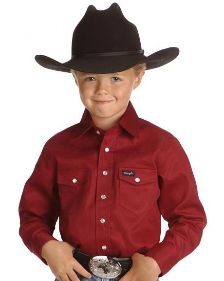 Wrangler Boys' Red Western Shirt - 2-20