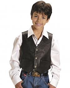 Roper Kids' Lambskin Leather Vest - 7-14