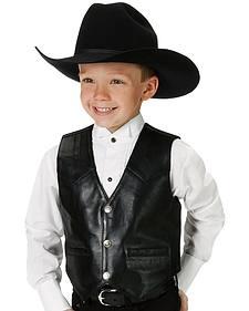 Roper Kids' Lambskin Leather Vest - 7-14