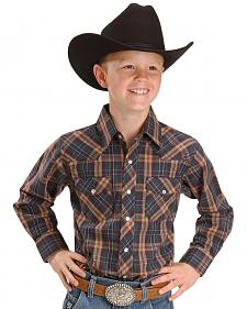 Wrangler Boys' Assorted Plaid Western Shirt - 2-20