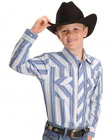 Wrangler Boys' Assorted Striped Western Shirt - 2-20