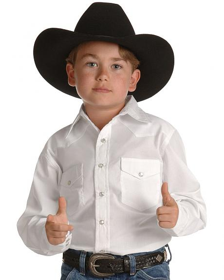 Wrangler Boys' Western Dress Shirt - 2-20