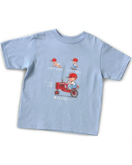 Boys' Three Steps Tractor tee - 4-7