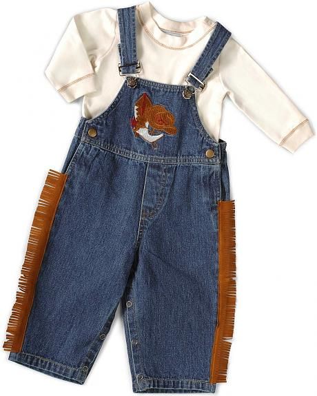 Lil Cattlelac Boys' Toddler Fringe Overall Set - 2-4