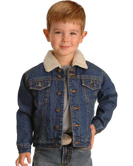 Ely Boys' Sherpa Lined Denim Jean Jacket - 4-16