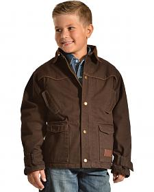 Crazy Cowboy Boys' Brown Rancher Jacket