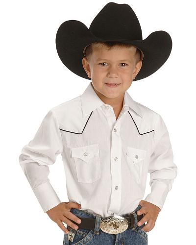 Ely Boys White Western Shirt 2-16 Western & Country 10298001