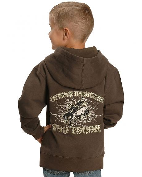 Cowboy Hardware Boys' Too Tough to Quit Hoodie - 5-16