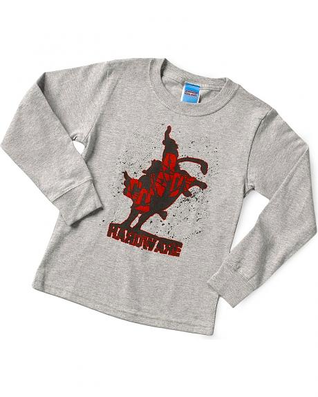Ransom Ranch Boys' Grey Shattered Bull Rider Tee - 2-12