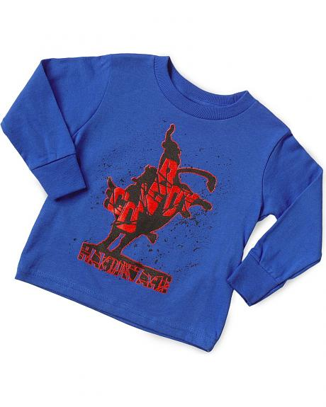 Ransom Ranch Toddlers' Blue Shattered Bull Rider Tee - 2T-4T