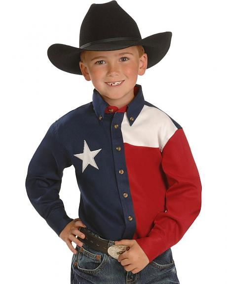 Boys' Texas Flag Western Shirt