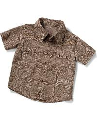 Wrangler Infant Wallpaper Print Western Shirt at Sheplers