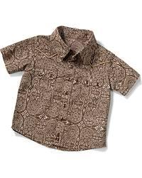 Wrangler Infant Wallpaper Print Western Shirt at Sheplers