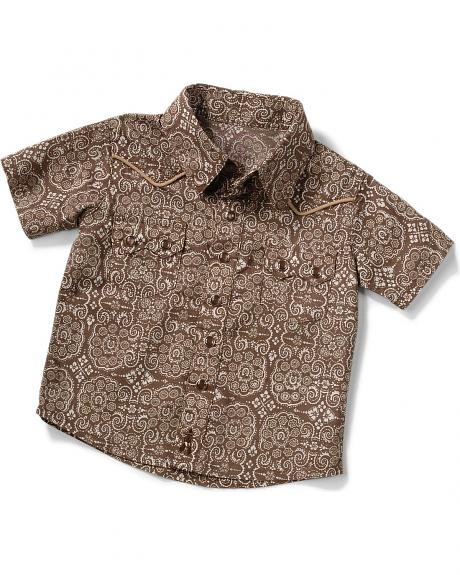 Wrangler Infant Boys' Wallpaper Print Western Shirt - 6M-18M