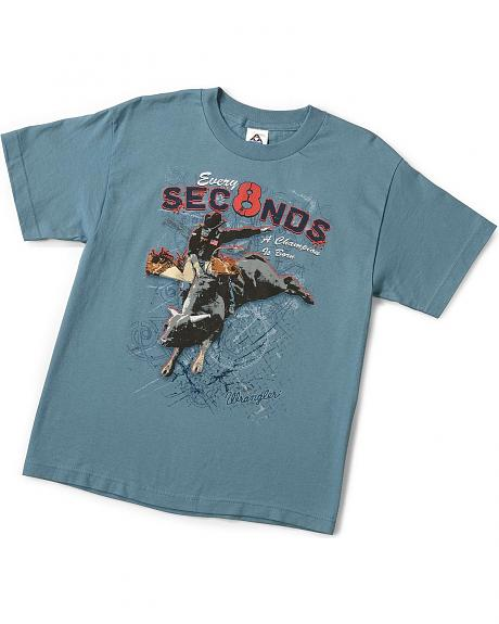 Wrangler Boys' 8 Seconds T-Shirt - 5-16