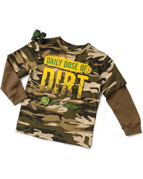 John Deere Boys' Daily Dose of Dirt Tee & Toy - 4-7