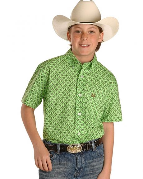 Cinch ® Boys' Bold Wallpaper Print Long Sleeve Shirt - 6-14