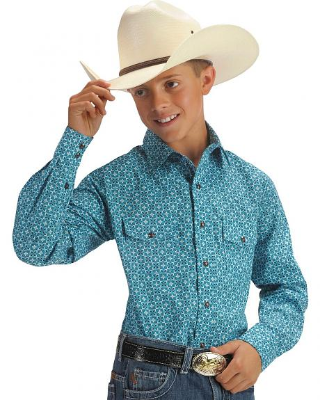 Cinch® Boys' Blue Design Shirt