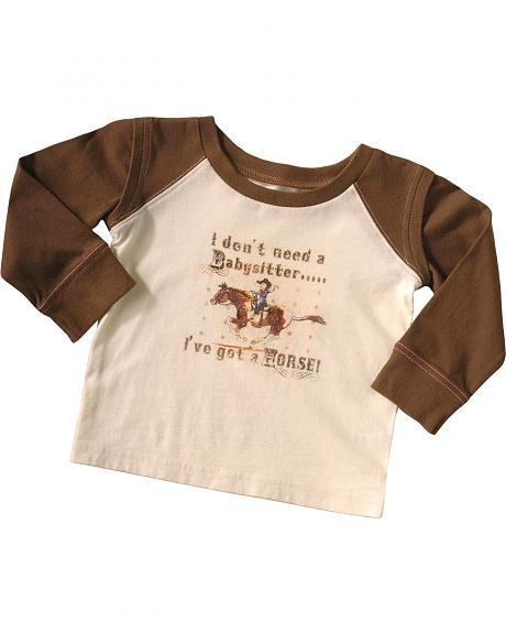 Wrangler Infant Boys' Don't Need a Babysitter T-Shirt - 6M-18M