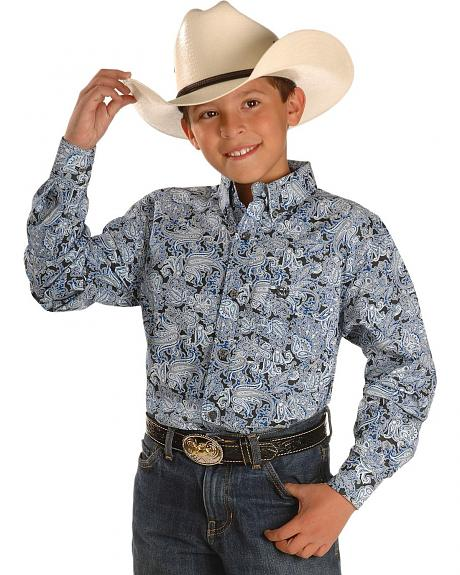 Cinch � Boys' Paisley Print Western Shirt - 4-16