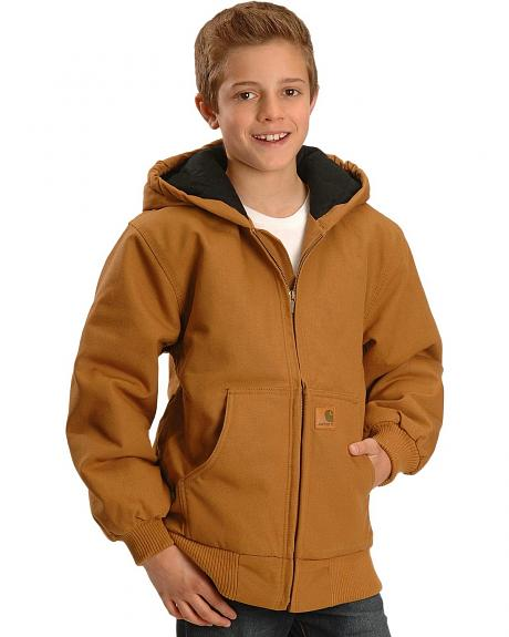 Carhartt Boys' Duck Active Jacket 4-7