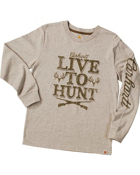 Carhartt Boys' Live to Hunt Long Sleeve Shirt