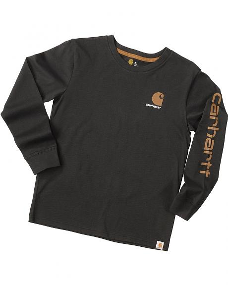 Carhartt Boys' Logo Long Sleeve Shirt - 8-20