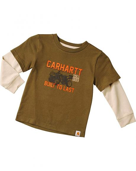 Carhartt Toddler Boys' Built to Last long Sleeve Shirt - 2T - 4T