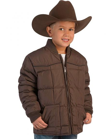 Ely Boys' Quilted Jacket w/ Piped Yokes - 5-16
