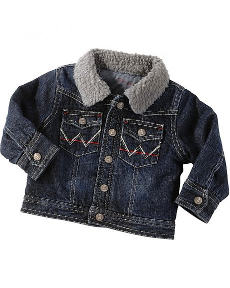 Wrangler Sherpa Lined Denim Jacket - 6M-16M