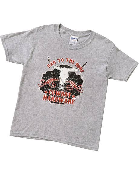 Cowboy Hardware Boys' Bad To The Bone T-Shirt - 5-16